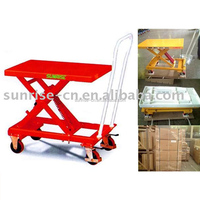 Industrial Warehouse Portable Manual Hand Trolley 210Kg Hydraulic Hand Truck with Double Scissor Lift
