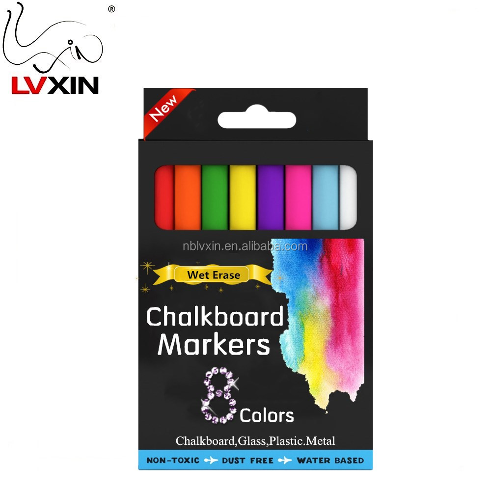 Liquid Chalk Markers Non Toxic Wet Erase Chalkboard Window Glass Pens