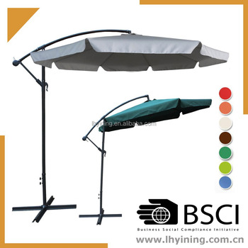 10 Feet Hang Over Parasol Side Pole Umbrella Garden Patio Hanging 300cm Cantilever