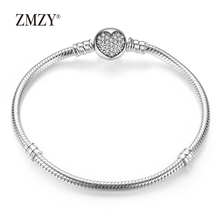 ZMZY Authentic 100% 925 Sterling Silver Classic Snake Chain Bangle & Bracelet For Women Sterling Silver Jewelry