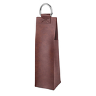 Custom PU Leather Red Wine Bottle Bag For Gift