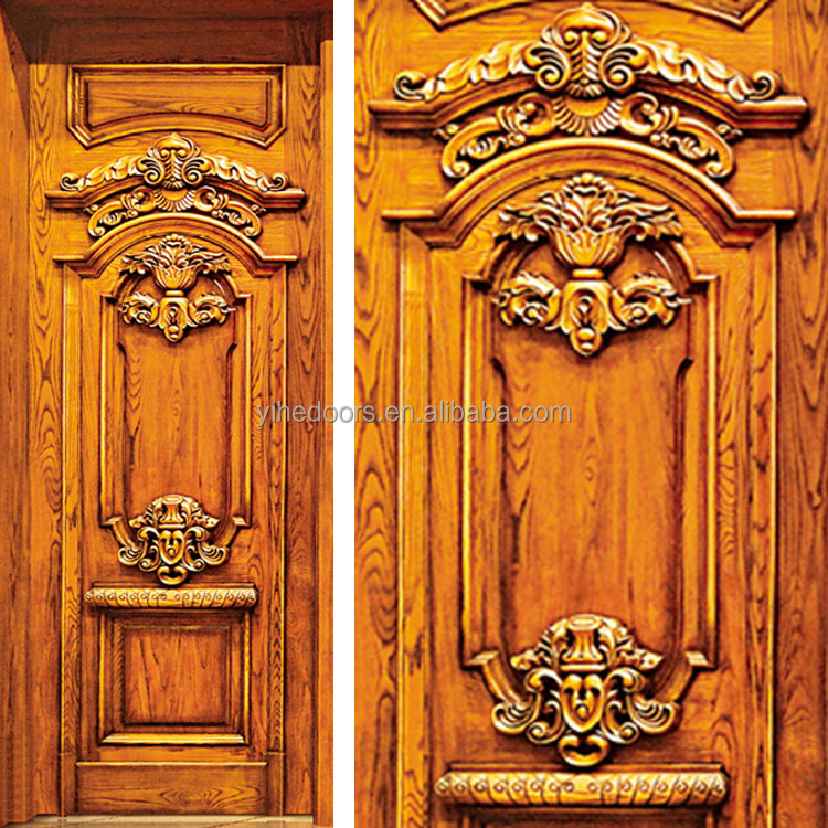 Up-to-the-minute luxury solid wood door main door wood carving door ...