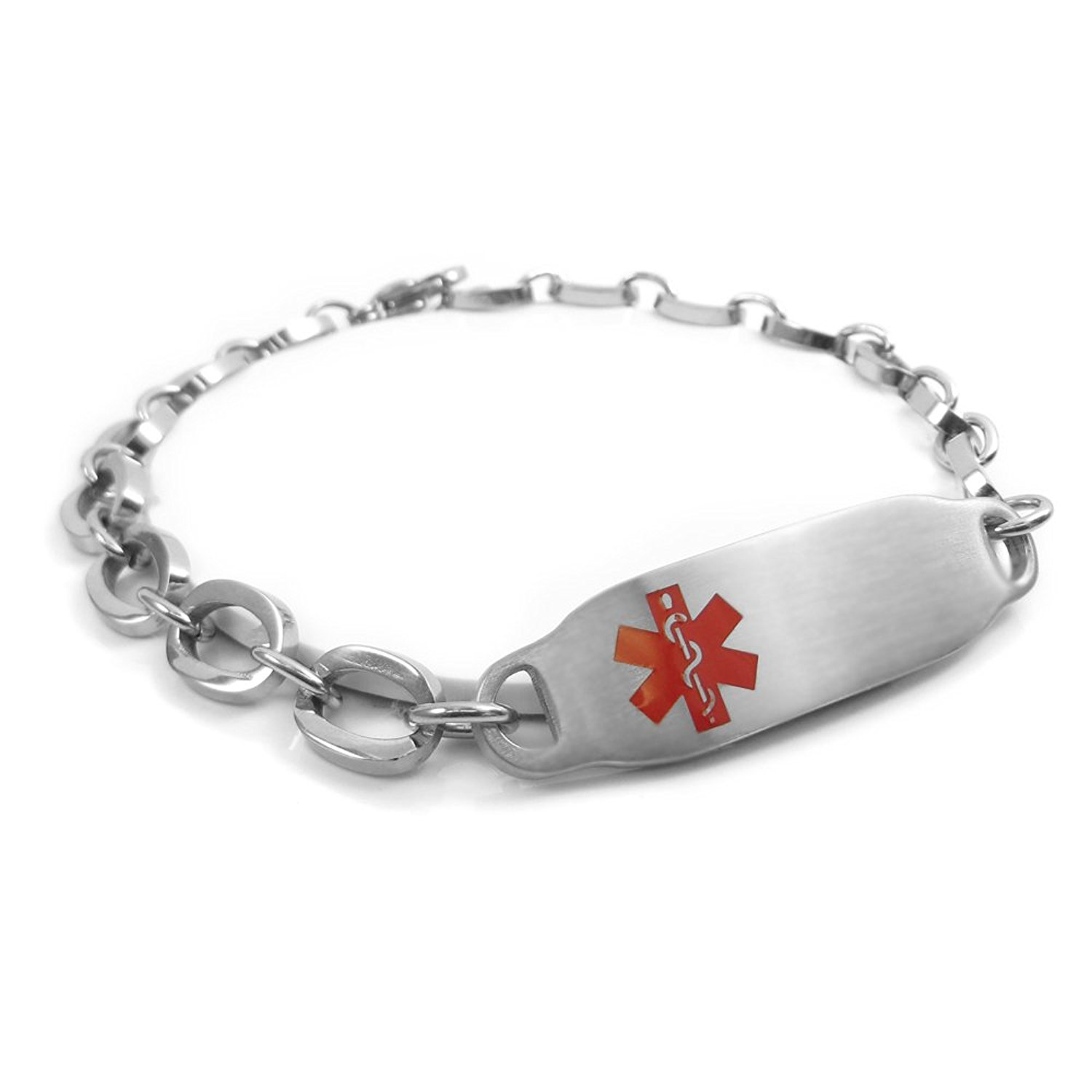 Red Millefiori Glass Red My Identity Doctor Pre-Engraved /& Customized Organ Donor Charm Medical Bracelet