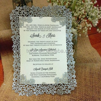 2016Teda laser cut paper rose frames wedding invitation card/party card/wedding cards