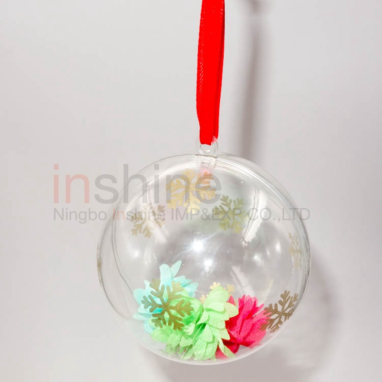 Snowflake golden printing ps ball christmas ball