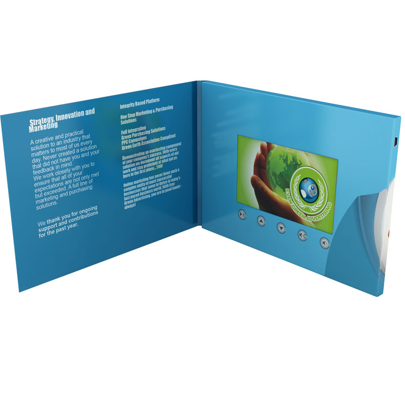 4.3 inch lcd screen video brochure New design digital catalogue with 1GB 2GB 4GB 8GB