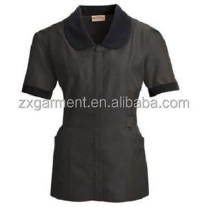 Mens housekeeping shirts OEM manufacturer reception hotel uniform for front desk staff
