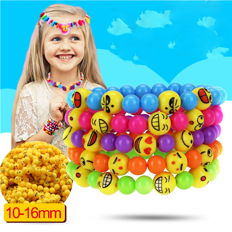 YWMT 2018 New Year Wholesale DIY Emoji Colorful Bead Pvc Originality Lucky Bracelet For Kids