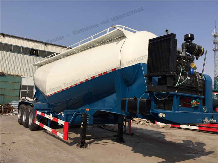 Carbon Steel 60 ton 45 m3 bulk cement silo trailer for sale