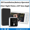 Modern design Europe wireless home intercom system wireless door viewer door video camera TL-E701A