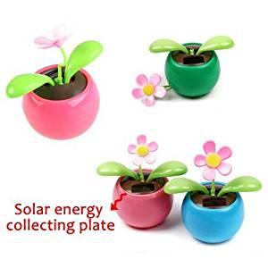 6616e7563bd760 Get Quotations · Toy Gift Solar Flower Home Ornament Swing Dancing Flower  Colorful Solar Power Flip Flap Flower Flowerpot