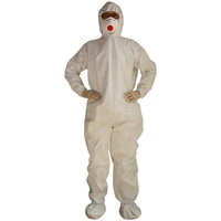 disposable SF microporous work shop lab cleanroom clothing waterproof Anti Dust hygienic protective suit coverall with boots