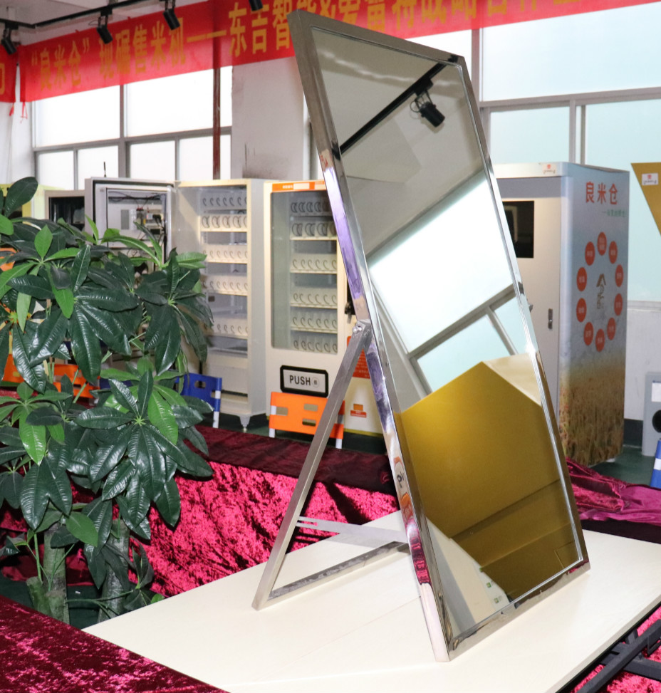 Factory stainless steel polishing metal framed floor mirror