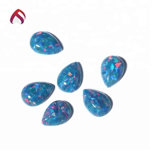 China factory direct hot selling loose tourmaline gems colorful heart opal stone for jewelry making