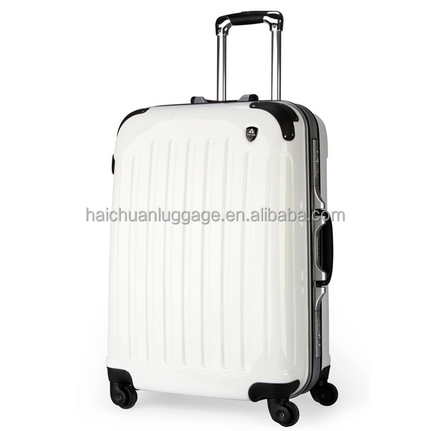 Hotsale ABS+PC travel luggage hard shell luggage aluminum frame luggage /girl case/20/24/26/28inch