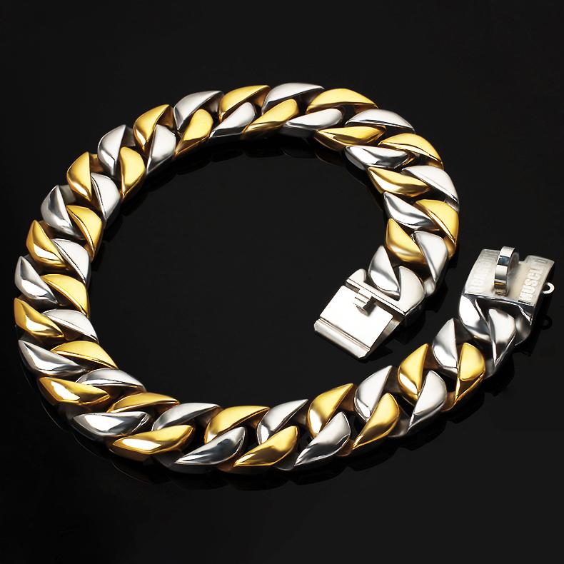 Custom Stainless Steel Dog Chain Luxury Gold Silver Dog Collar Making Supplies Dog Metal Collar