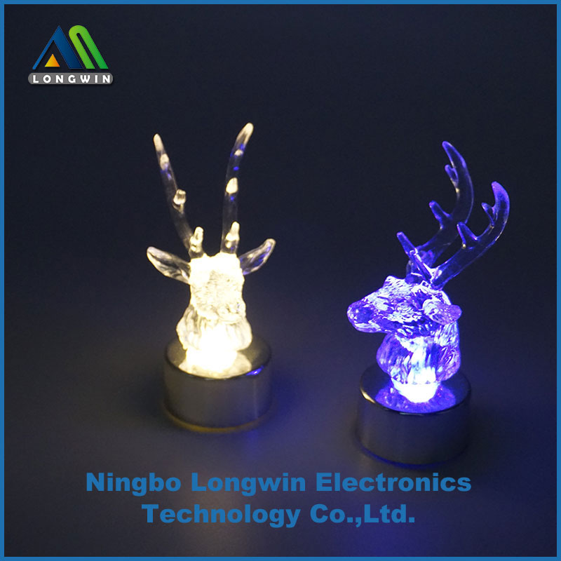 Christmas reindeer light ornament, LED tea light with changing color