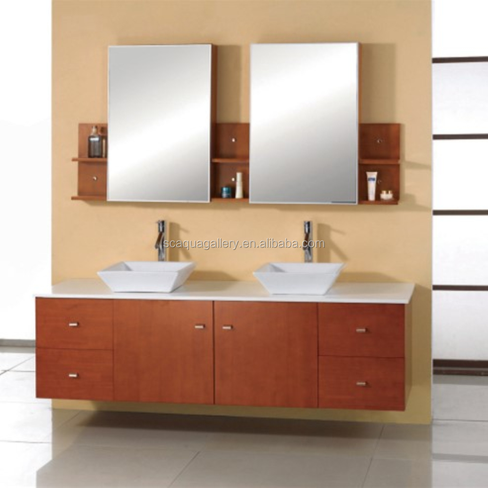 3 Mirror Shelves Natural Stone Used Bathroom Vanity Cabinets