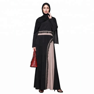 High quality latest abaya designs 2018 Dubai women Muslim clothes