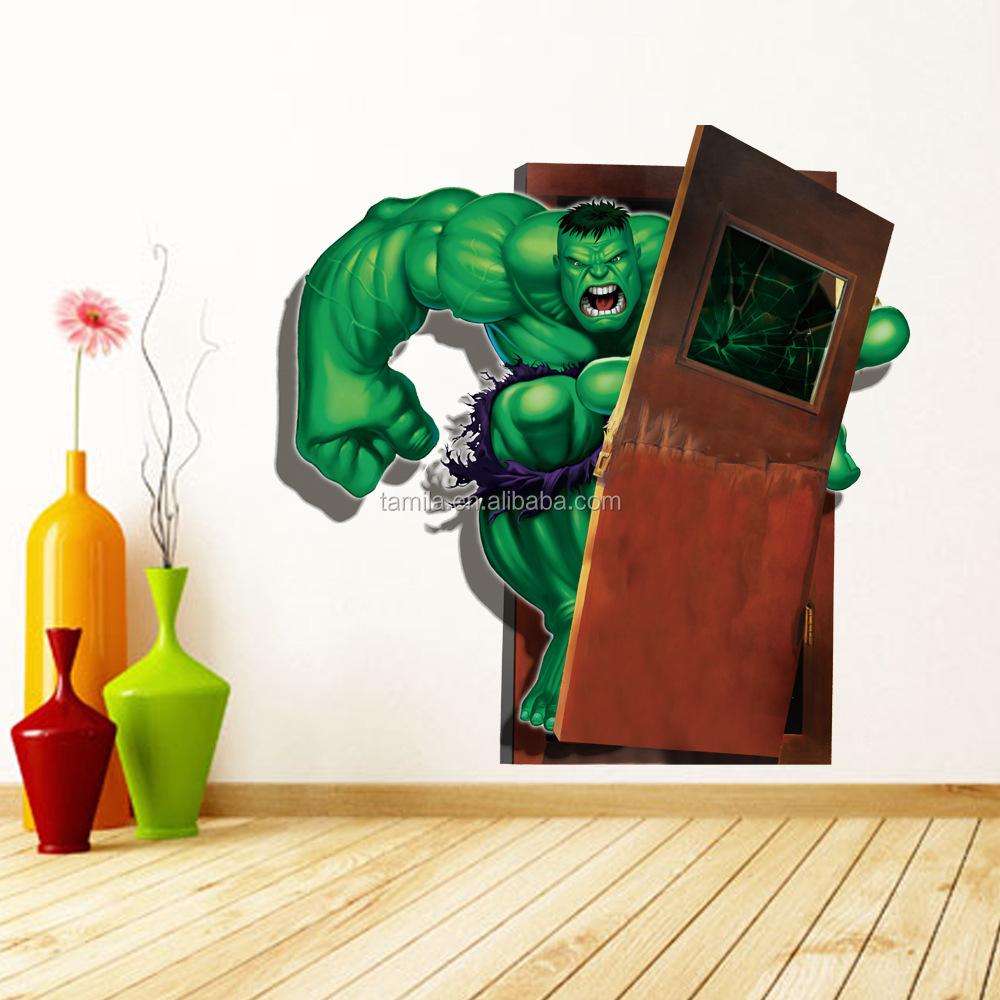 3d Papier Peint De Bande Dessinee Marvel Hero Stickers Muraux