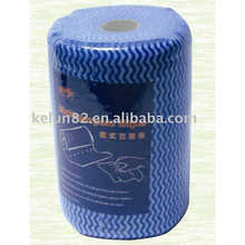 Perforated spunlace nonwoven wipes in roll