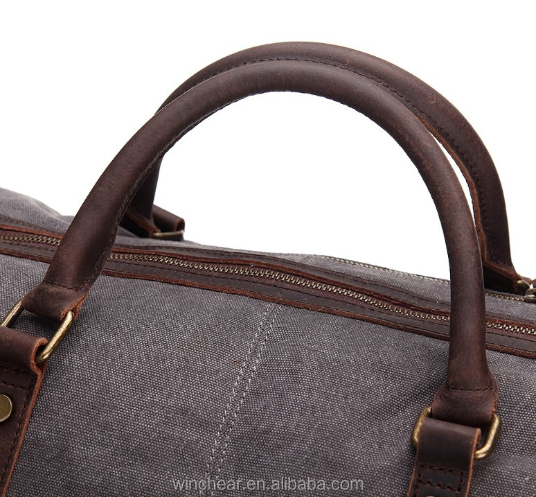 Personalized adjustable shoulder strap designer canvas duffle waterproof tote travel bag for men