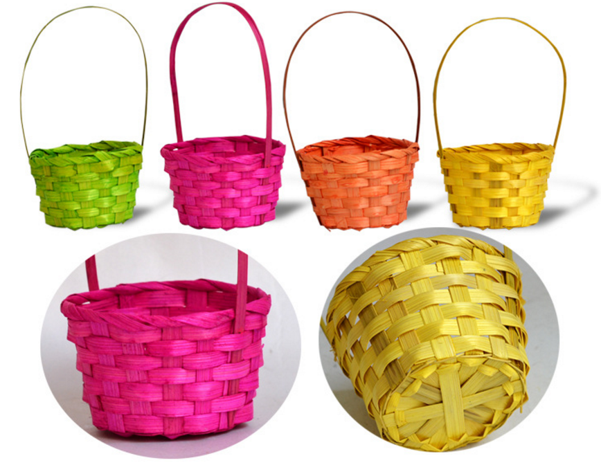 Wholesale colourful children easter decorations weave mini bamboo wholesale colourful children easter decorations weave mini bamboo basket negle Choice Image