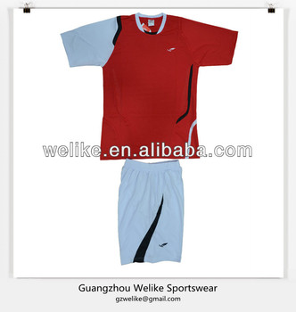 776e084e34a Red and white football jersey best quality soccer jerseys wholesale soccer  uniform cheap
