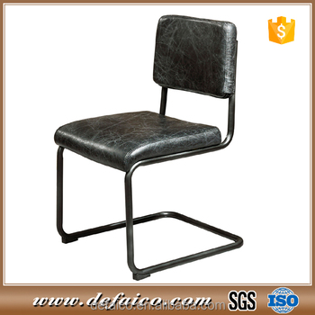 industrial office chair. Vintage Black Leather Industrial Office Chair For Meeting Room W