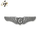 Promotion zinc alloy metal custom design pilot wing pin badge for souvenir