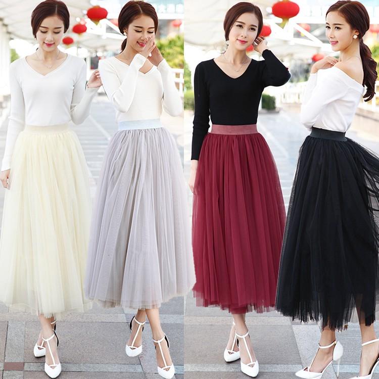 new fashion faldas korean style 8 m big swing maxi skirts