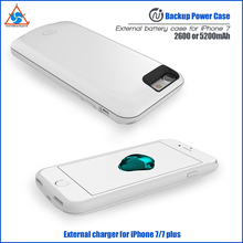 External rechargeable 2600/3800/5200mAh Portable Backup Power Case For iphone 7 and for Iphone 7 plus