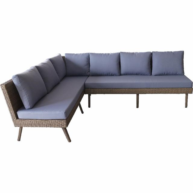 2018 New Design Garden Furniture Wicker Combination Sofa Set S 083