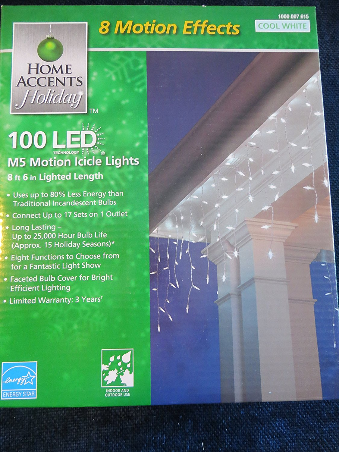 Buy Home Accent Holiday C6 100 Light Led Faceted Color Changing Warm