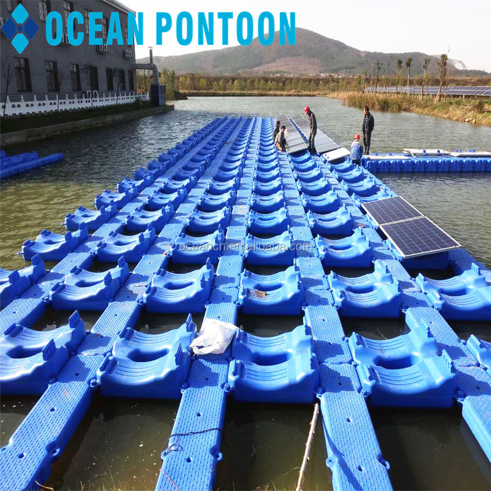 Online shopping HDPE solar floats plastic floating pontoon/floater for solar panel