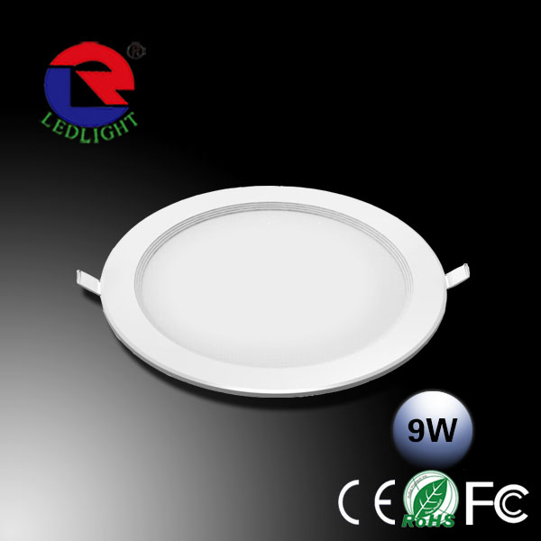Chinesse factory direct sale 9w led slim downlight CE ROHS EMC CCC approval