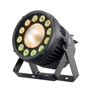 12pieces 12w rgbw 4-in-1 led par can lights 1pieces 200w cob strobe waterproof led stage lighting for concert shows