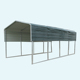 steel awning of boat