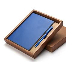 <span class=keywords><strong>Premium</strong></span> losbladige vouwen notebook custom high-end notepad relatiegeschenk PU notebook en pen gift set