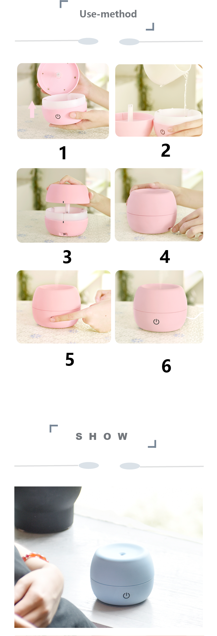 2016 Ultrasonic Cute Portable Mini Aromatherapy Essential Humidifier Aroma Oil Diffuser