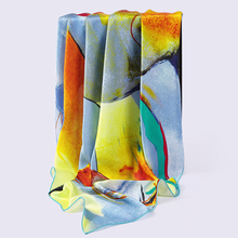 Infinity Size Digital Printed Large Square Silk Satin Scarf