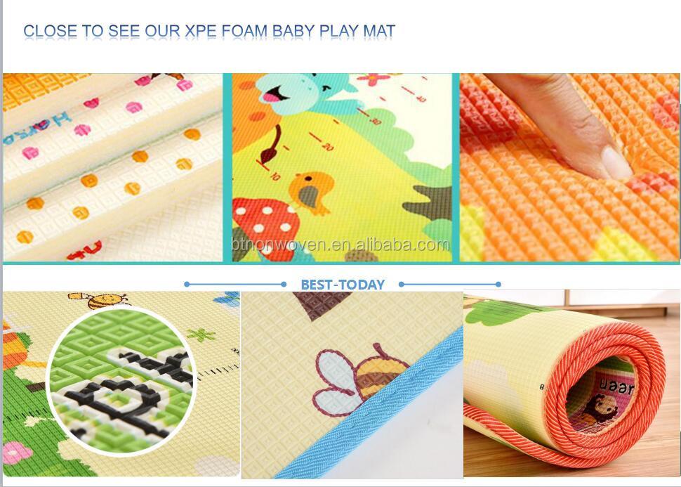 custom printing high quality anti-slip XPE foam game play