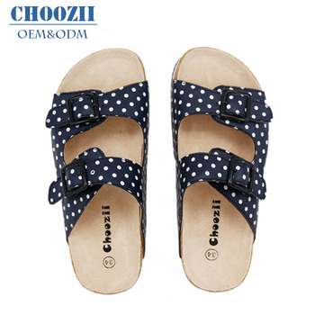 4586b07e7 Hot Sale Summer Girl Children Sandals Slippers With Cork Sole - Buy ...