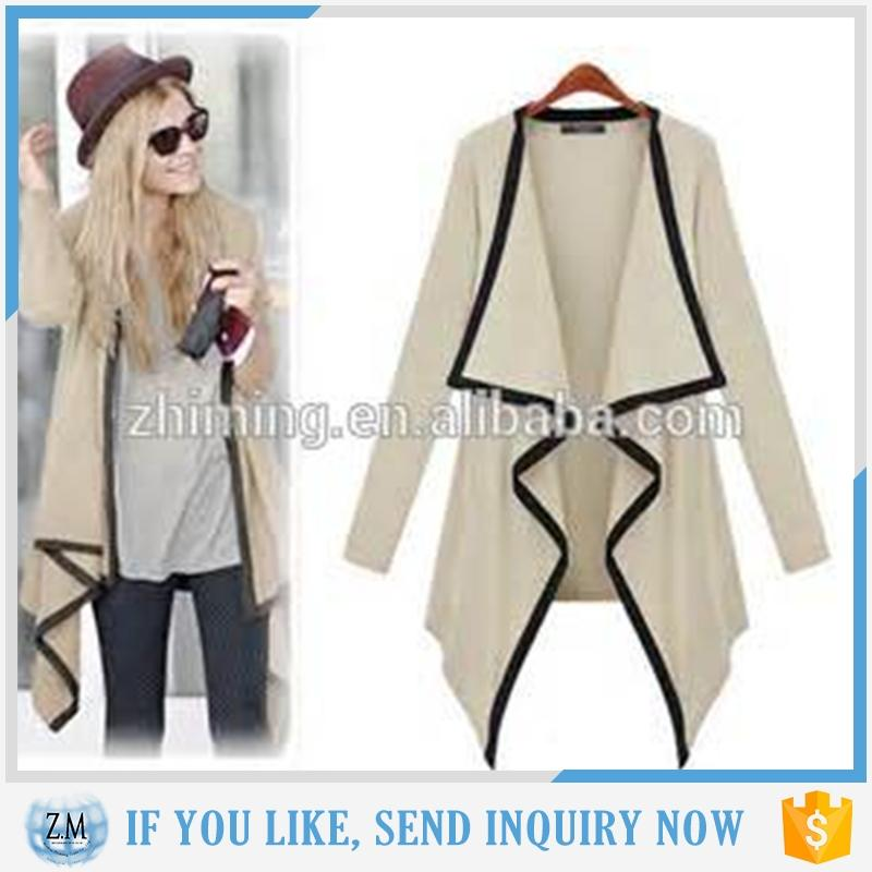 Women Knitwear Waterfall Collar Cardigan