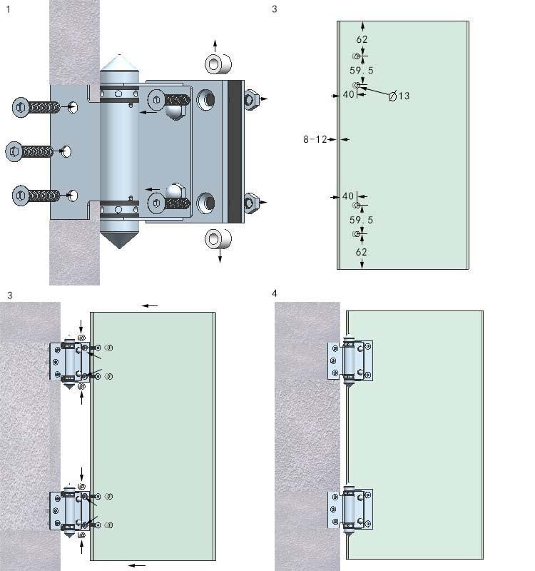 Wall To Glass Panel Gate Hinge For Sauna Glass Door Buy
