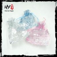 Promotional custom organza bags pouches,organza wedding candy pouch,drawstring small organza gift pouch