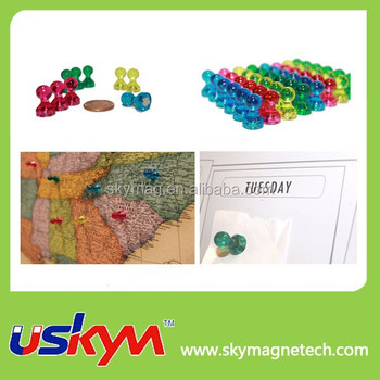 magnetic map pins clear color push pin magnet hooks buy magnetic