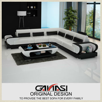 New Sofa Styles 2013! GANASI Leather Couch Italian Furniture, View ...