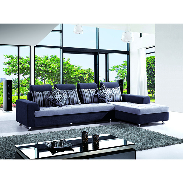 2016 New Designs L Shape Metal Legs Flannel Fabric Cover Chaise Lounge Luxury Sofa Set Exotic Sectional Sofa Alibaba furniture
