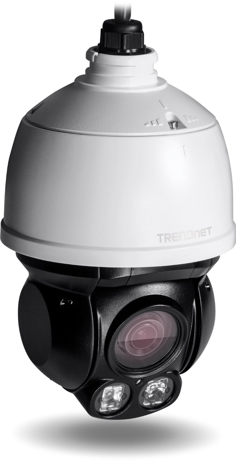 TRENDnet Indoor/Outdoor Speed Dome PoE IP Camera with 2 Megapixel 1080p Full HD Resolution, 4x Optical Zoom, 16x Digital zoom with Auto-Focus, IP66 Weather Rated Housing, 100 ft. Night Vision, Endless 360 degree Pan/ 80 Degree Tilt, ideal for monitoring your Home/Large business remotely, Micro SD